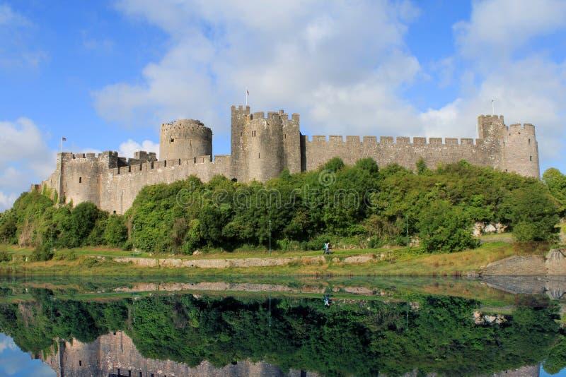 Pembroke-Schloss Wales stockbild