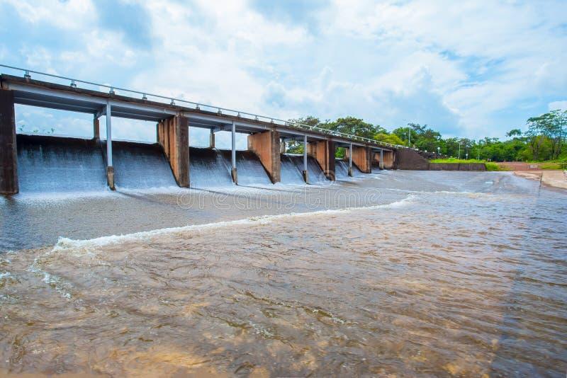 Pembrokeshire, Wales, Dam, het Overlopen, Lopend Water stock afbeelding