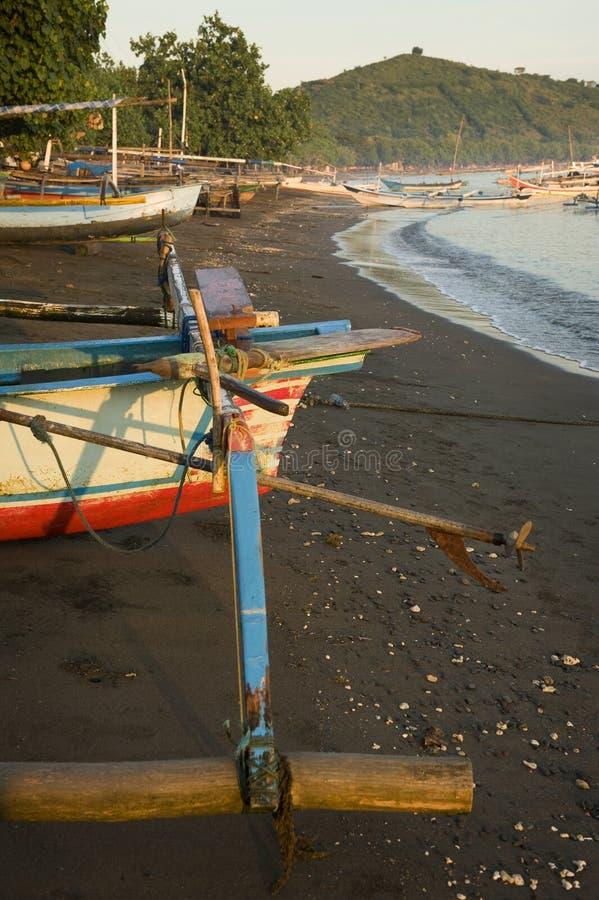 Pemuteran,巴厘岛海滩 免版税库存照片