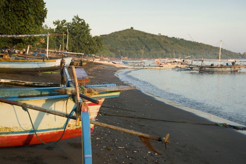 Pemuteran, spiaggia di Bali fotografie stock libere da diritti