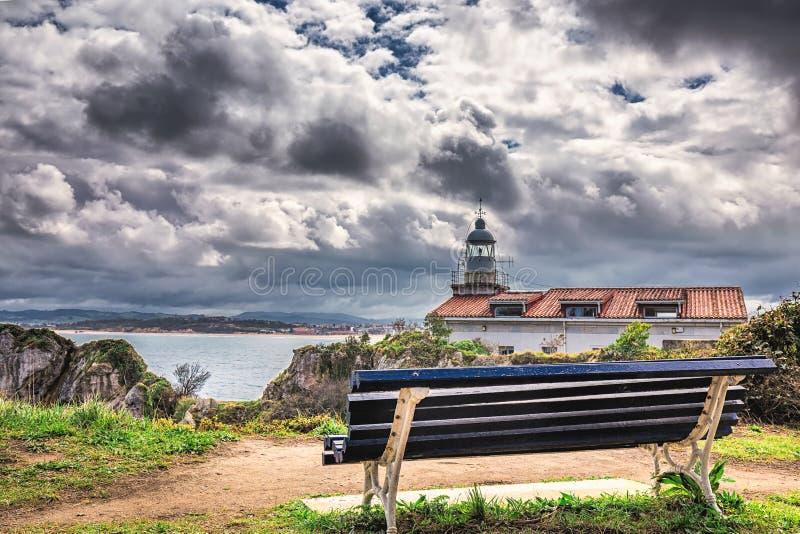 PenÃnsula DE La Magdalena, Baai van Santander, cultureel erfgoed royalty-vrije stock foto