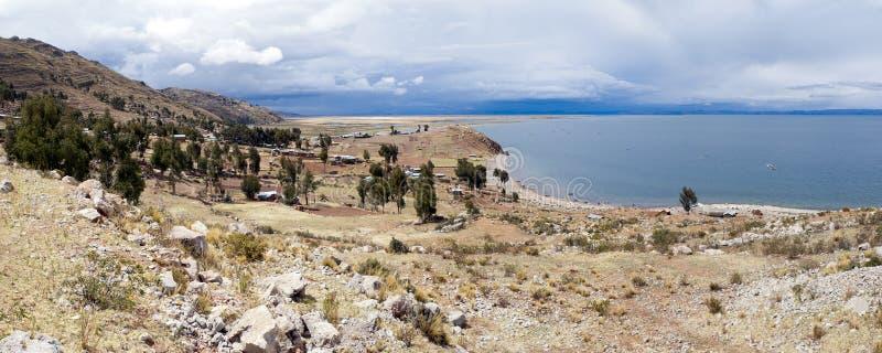 Península de Capachica fotografia de stock royalty free