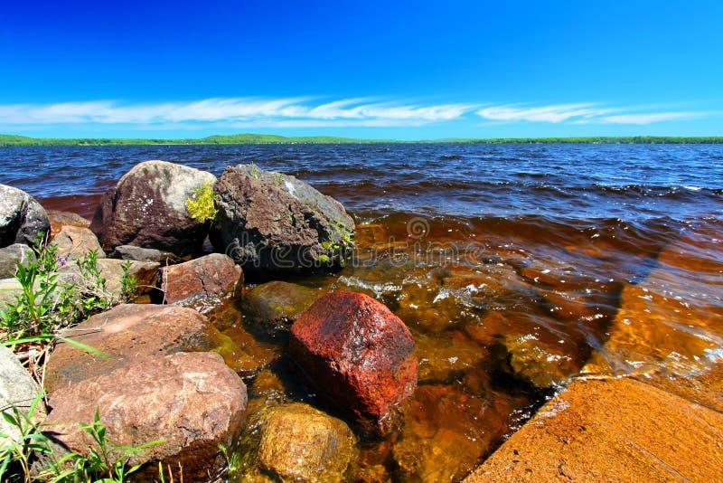 Península de la parte superior de Gogebic Michigan del lago foto de archivo libre de regalías