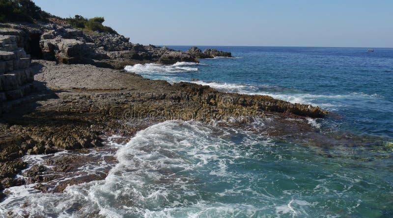 Península de Lustica en Montenegro imagen de archivo libre de regalías