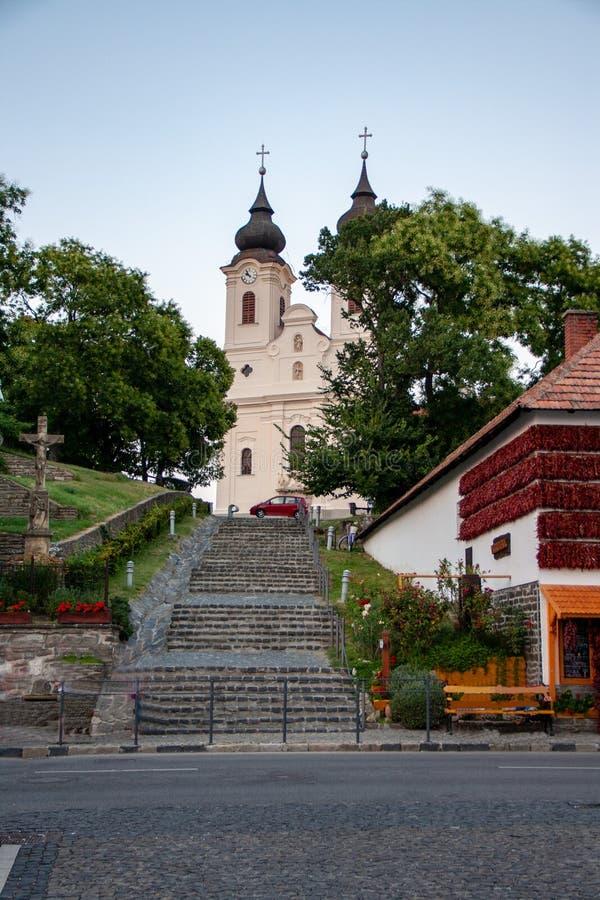 Península de Tihany en el lago Balatón en Hungría foto de archivo libre de regalías