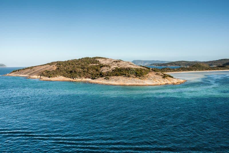 Península en la entrada del puerto de Albany, Australia fotografía de archivo libre de regalías