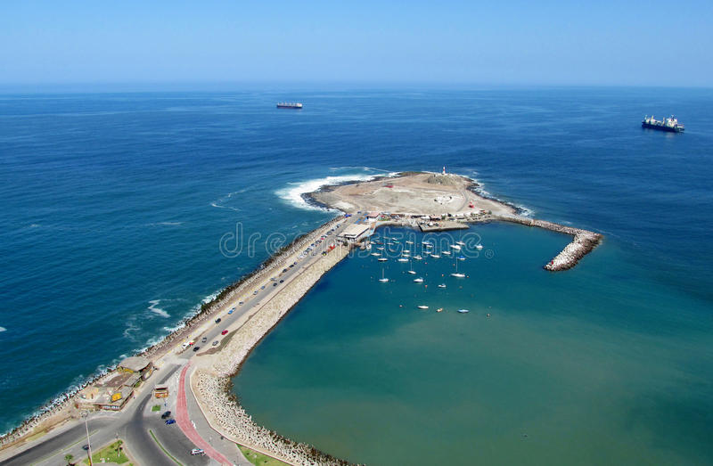 Península na cidade de Arica, o Chile fotografia de stock royalty free