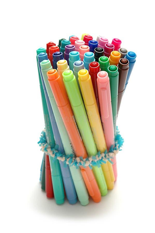 Pen 2 van de kleur stock foto's