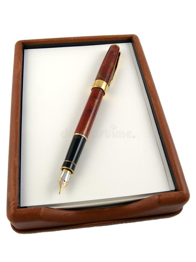Pen & document royalty-vrije stock afbeelding