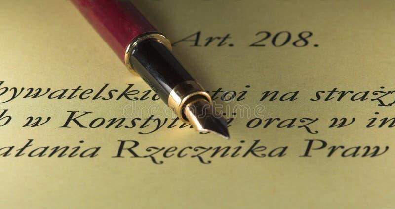 Pen & tekst stock foto's