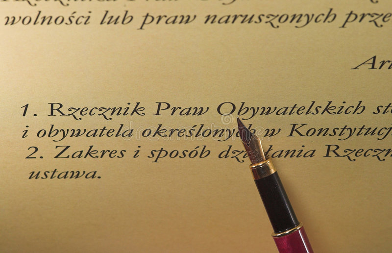Pen & tekst stock foto