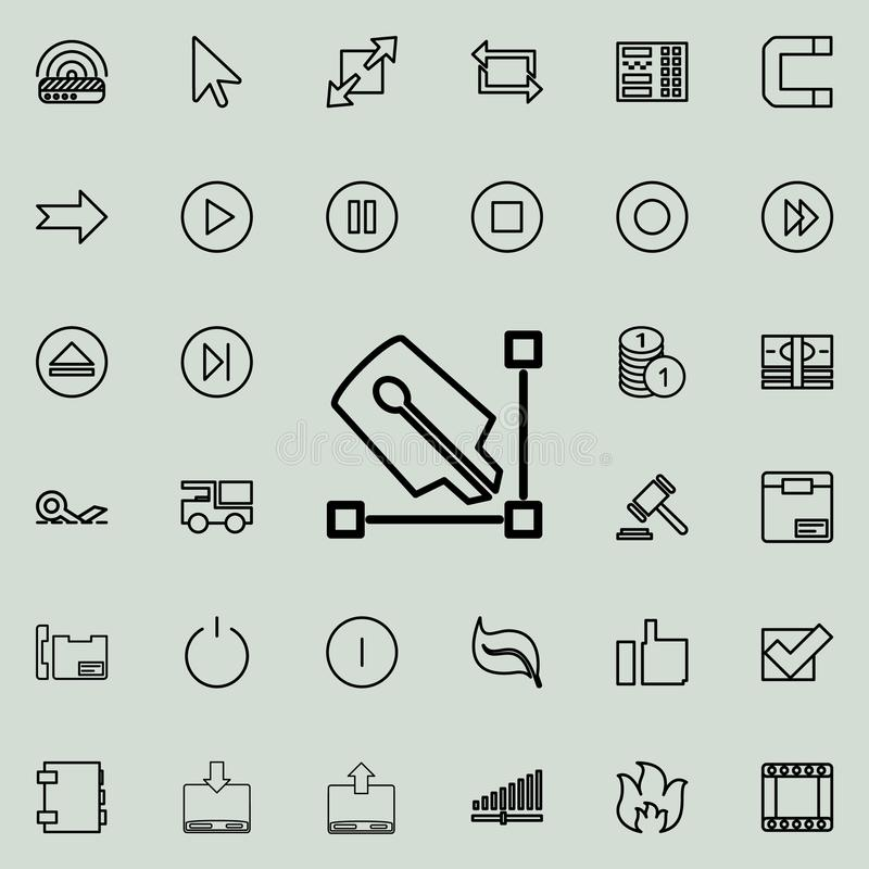 pen and angle outline icon. Detailed set of minimalistic line icons. Premium graphic design. One of the collection icons for websi vector illustration