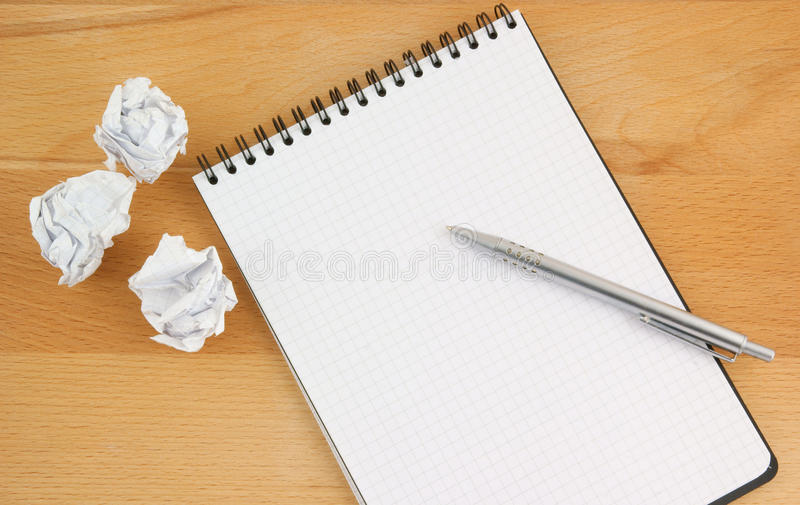 Download Pen and blank note pad stock photo. Image of white, text - 18134744