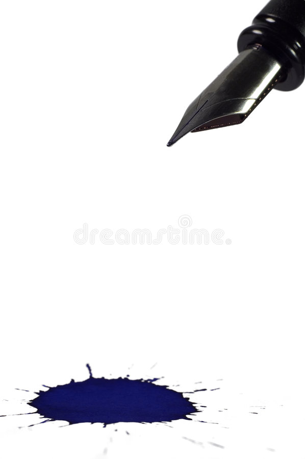 Pen And Blot Royalty Free Stock Image