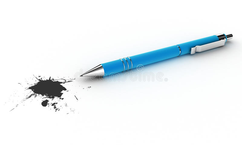 Pen With A Blot Stock Image