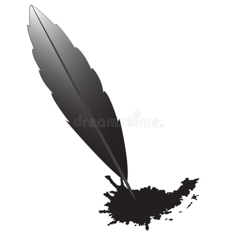 Pen-blotch vector illustration