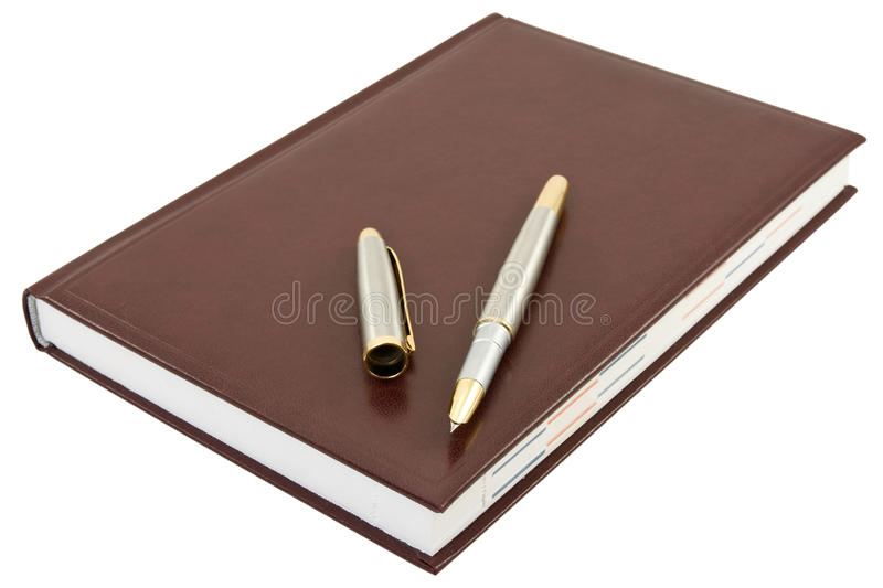 Download Pen and book stock photo. Image of document, planner - 22717380