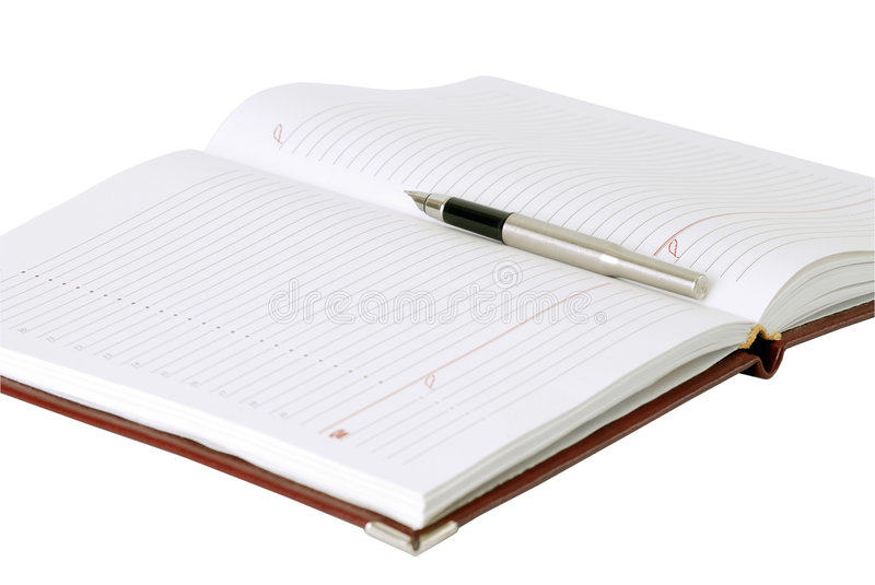 Pen&book. Pen and book on white background royalty free stock image