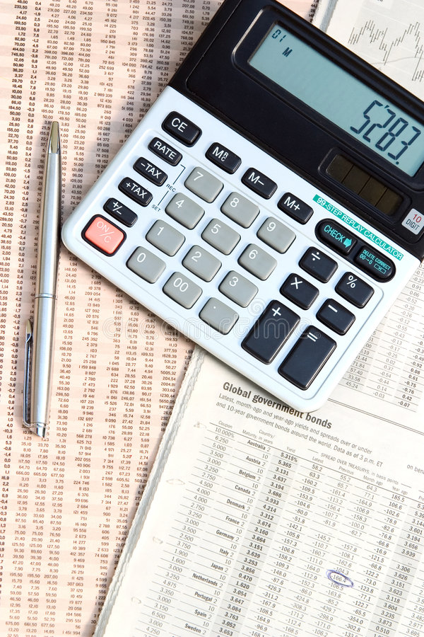Download Pen And Calculator. Stock Photos - Image: 1180433