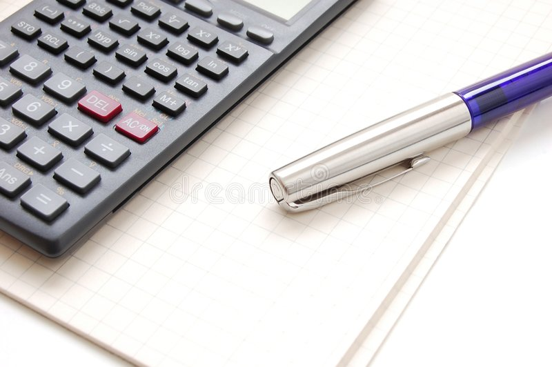 Download Pen and calculator stock image. Image of commerce, accounts - 1607179