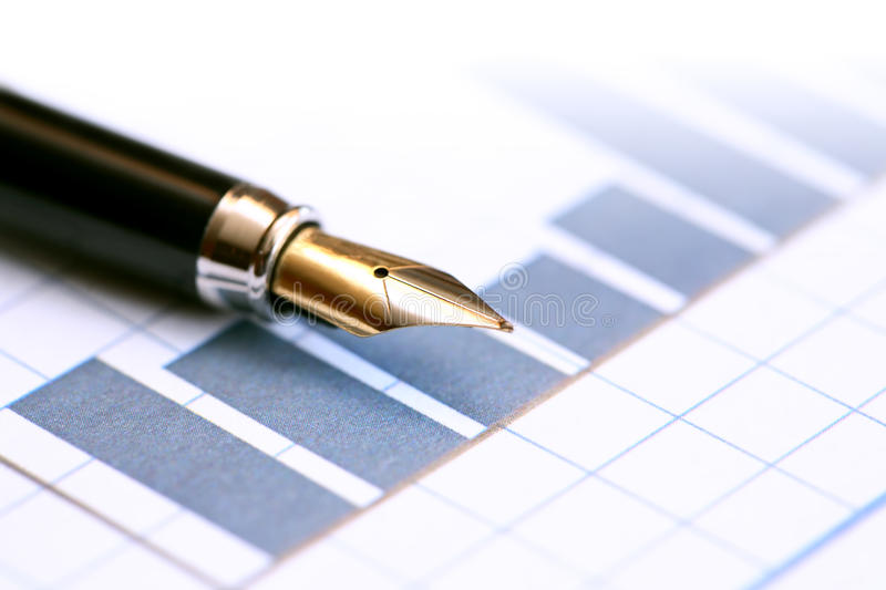 Download Pen On Chart stock photo. Image of market, industry, list - 29296626
