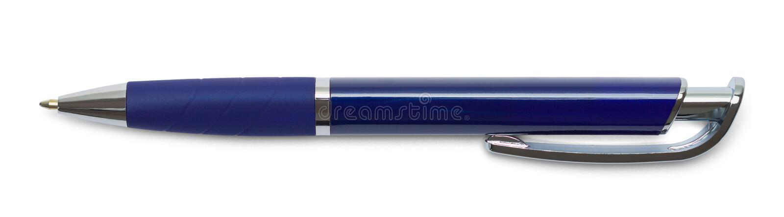 Pen Click Blue royalty free stock photography