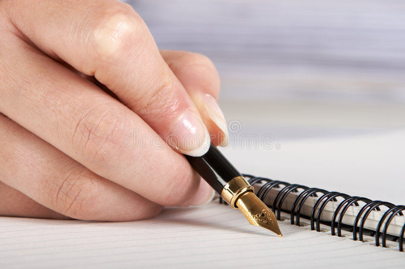 Pen close-up stock photography