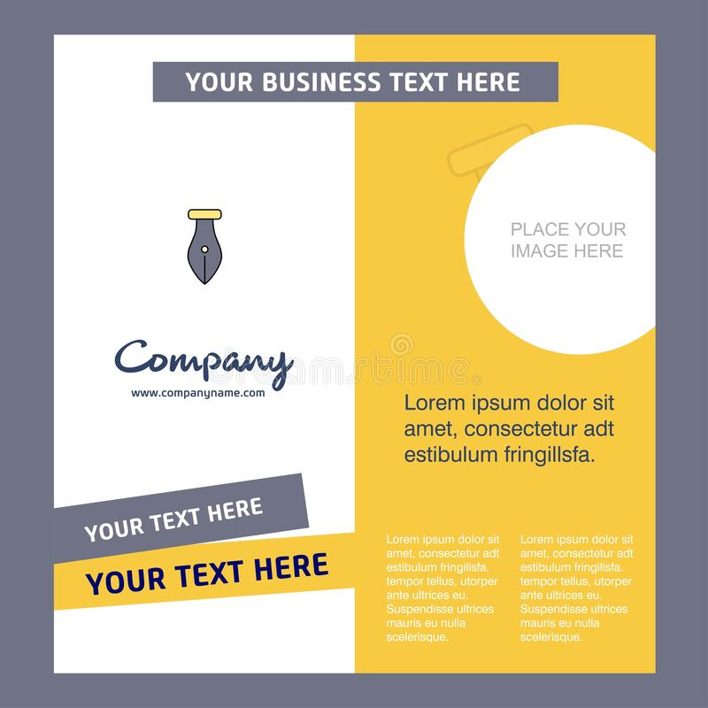 Pen Company Brochure Template VektorBusienss mall stock illustrationer
