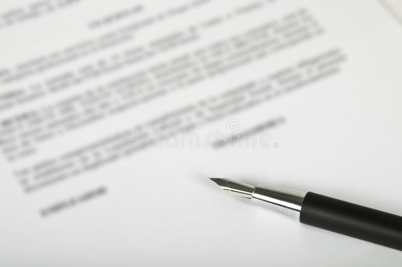 Download Pen and contract stock image. Image of negotiating, negotiation - 16653577