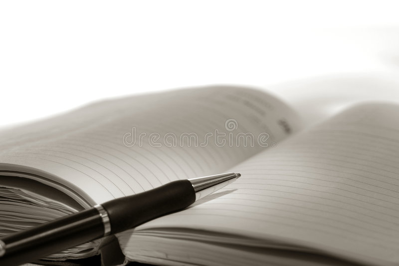 Download Pen On Day Planner Journal Open Blank Empty Page Stock Image - Image: 7398267