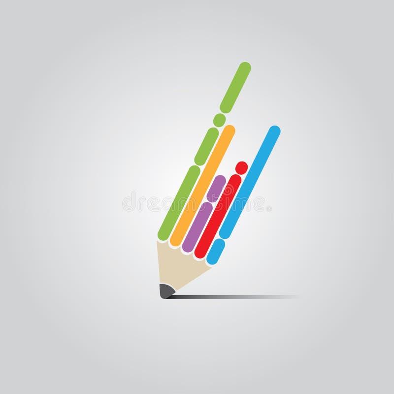 Pen Design plano ilustración del vector