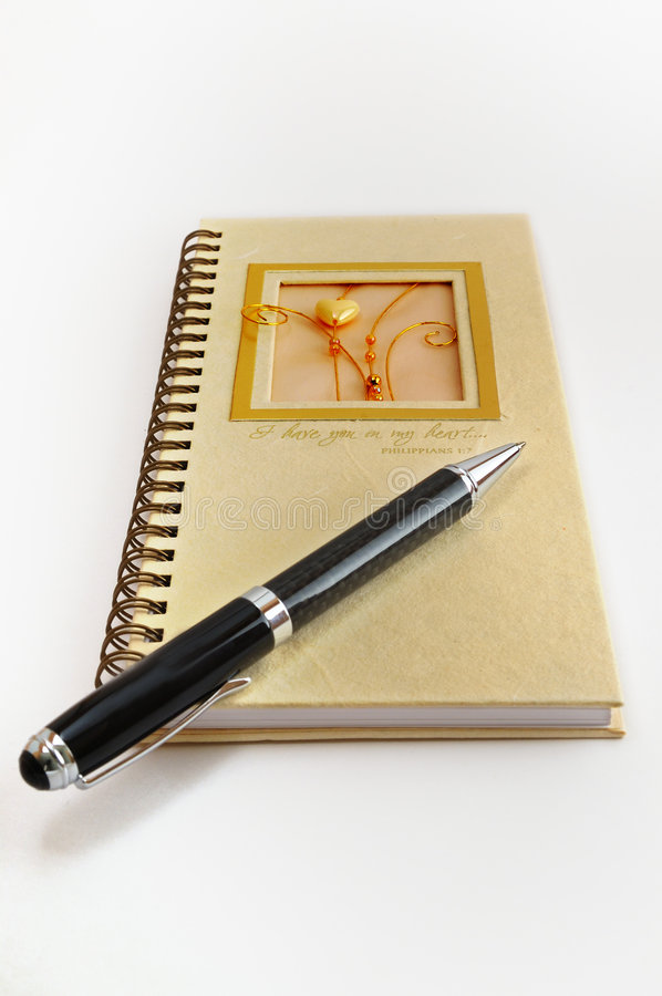 Pen and diary stock image