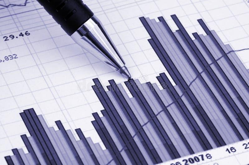 Pen die diagram toont stock foto