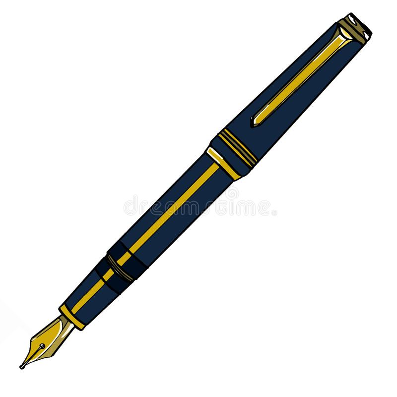 Pen illustration cartoon drawing coloring royalty free illustration