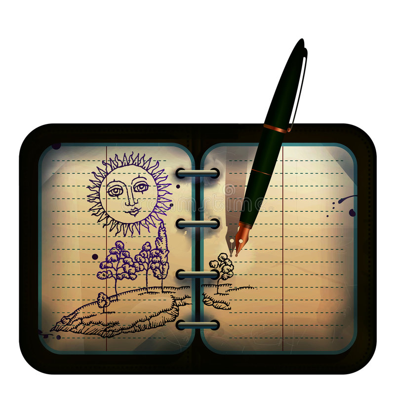 Download Pen Drawing Landscape Royalty Free Stock Images - Image: 7672889