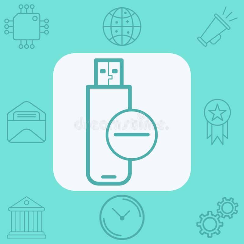 Pen drive vector icon sign symbol royalty free illustration