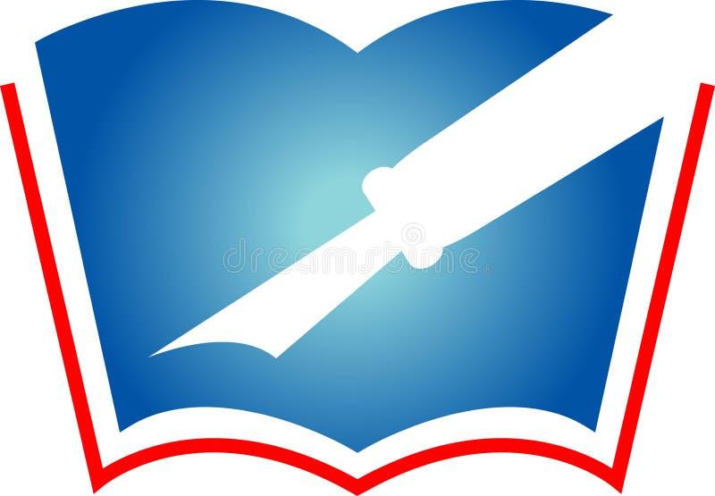 Pen en boek vector illustratie