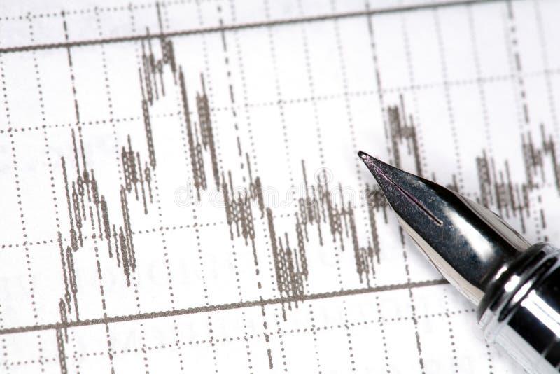 Pen en diagram royalty-vrije stock afbeelding