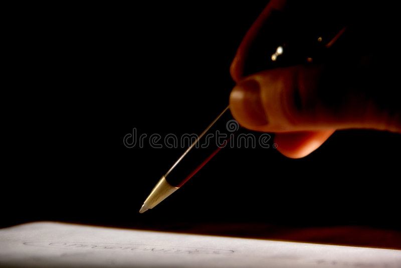 Pen en Document stock foto's