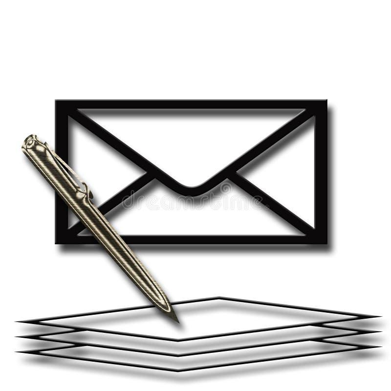 Pen en document vector illustratie