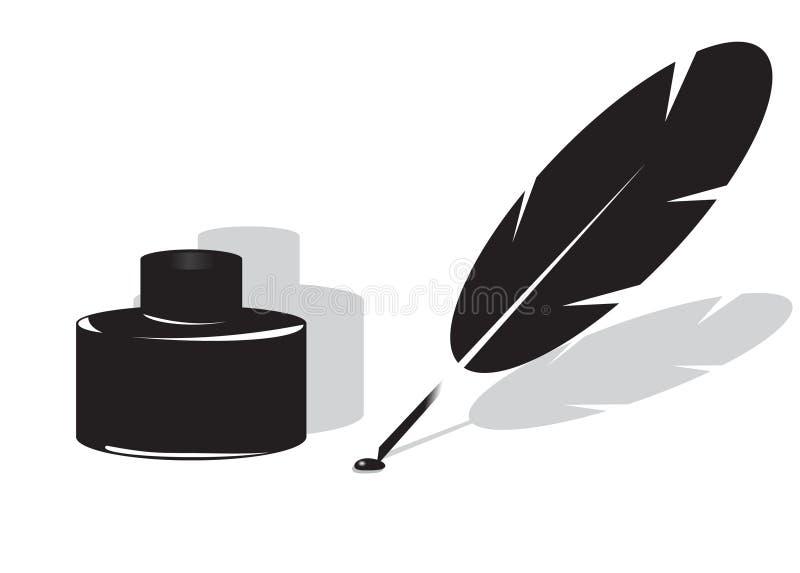 Pen en inkt. vector illustratie