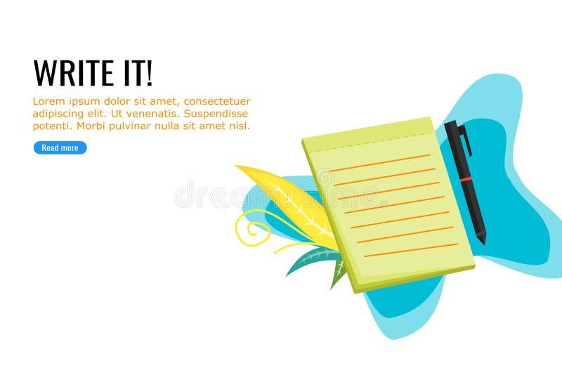 Pen en Notaboekillustratie vector illustratie