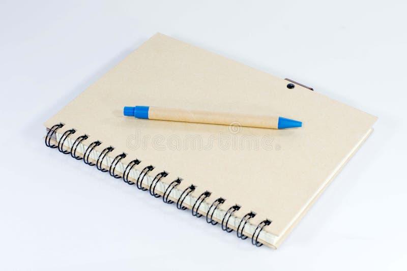 Pen en notitieboekje stock afbeeldingen