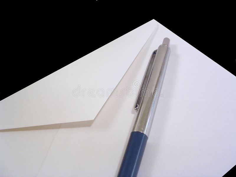 Pen and Envelope royalty free stock photography
