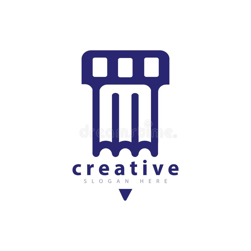 Pen Film Logo icon Vector template. Vector element of logo design vector illustration