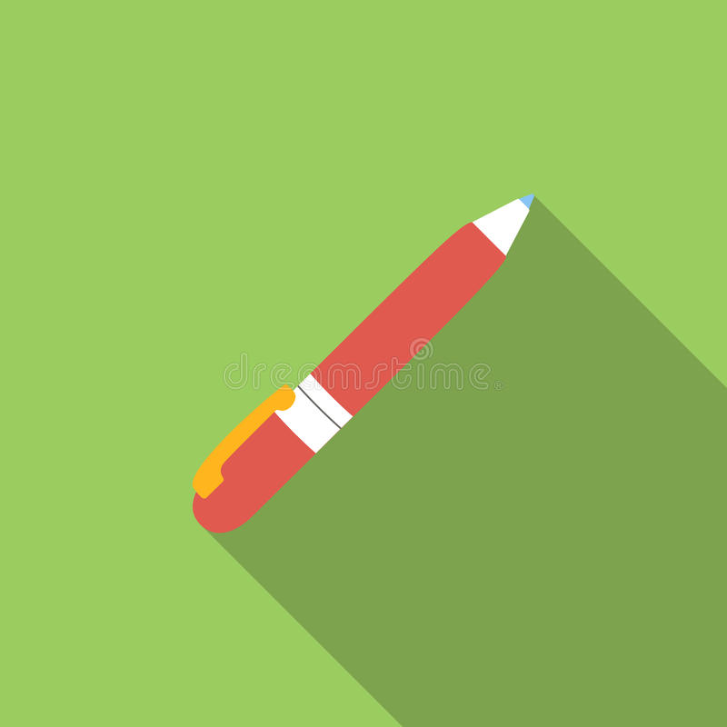 Pen flat icon. For web and mobile devices royalty free illustration