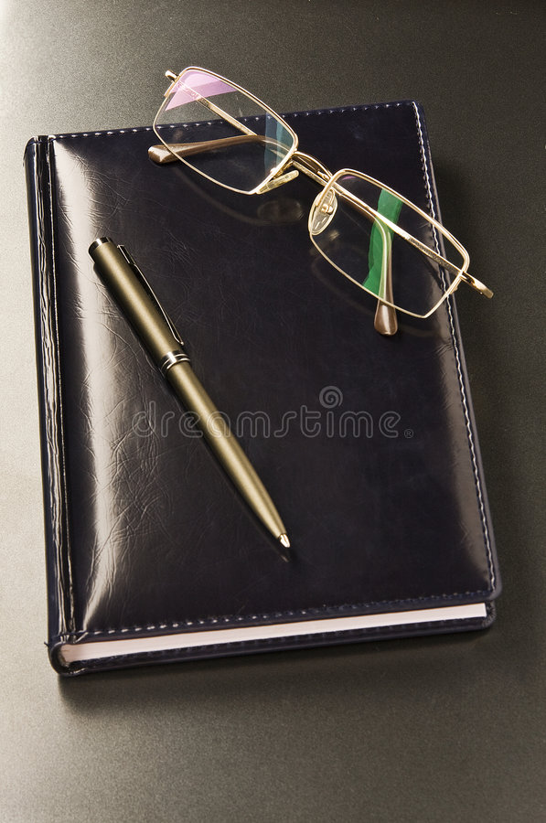 Download Pen and glasses stock photo. Image of conference, career - 5441038
