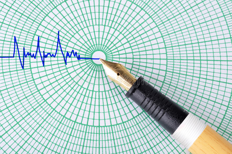 Download Pen with graf sheet stock image. Image of graph, homework - 25258811