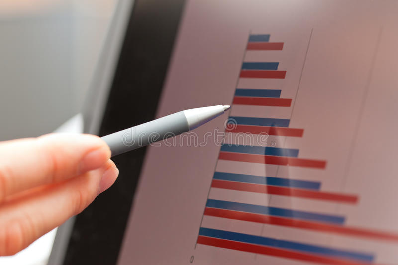 Download Pen, graph and screen stock image. Image of development - 22129887