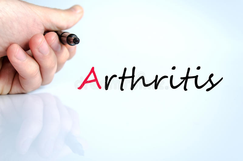 Pen in the hand arthritis concept royalty free stock images